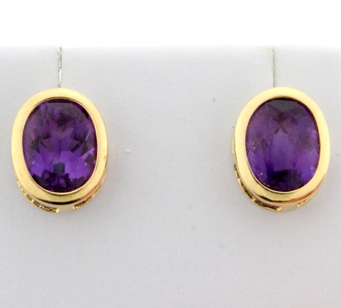 5ct TW Amethyst Earrings