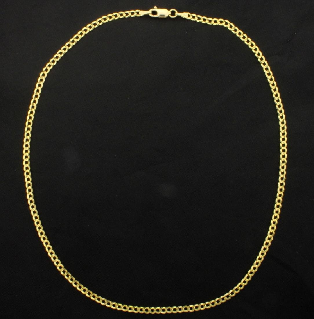 Italian Made 16 1/4 Inch Cuban Link Chain