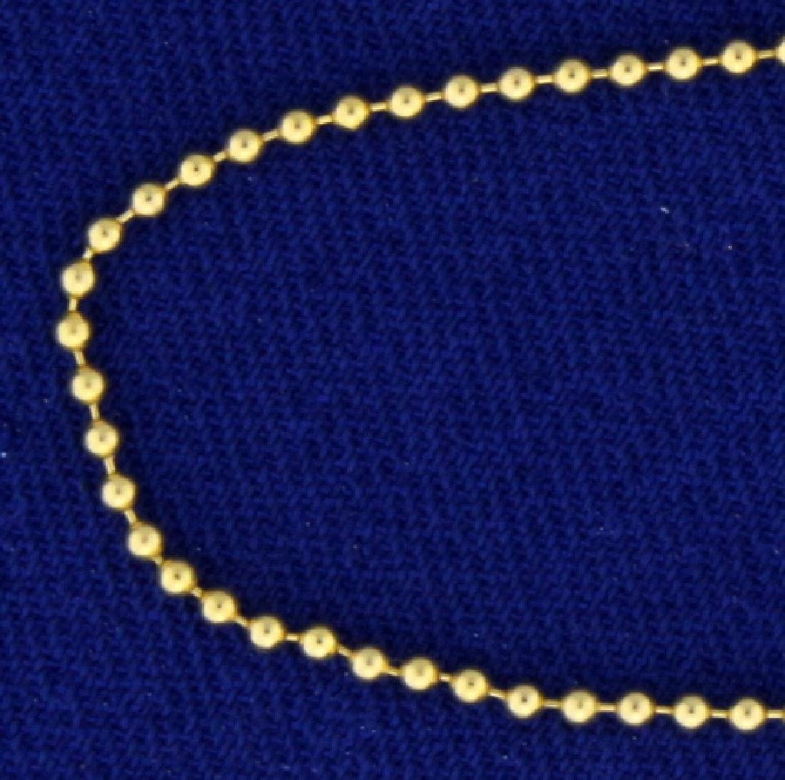 17 Inch Ball Link Neck Chain - 2