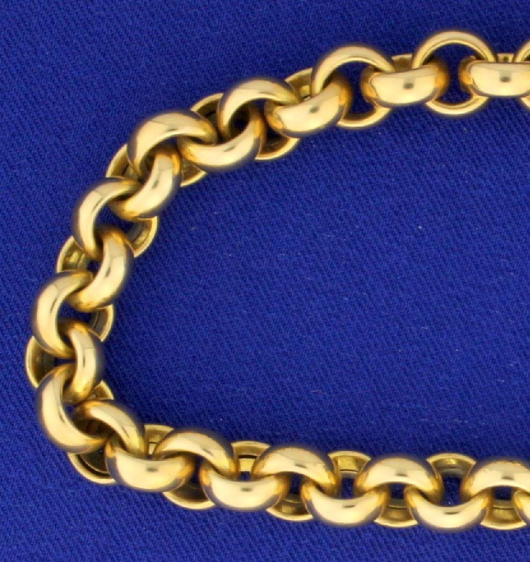 Italian Made 18 Inch Heavy Cable Neck Chain - 2