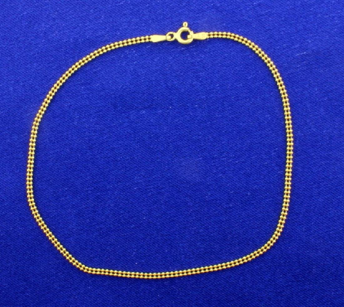 Double Ball Link Gold Bracelet