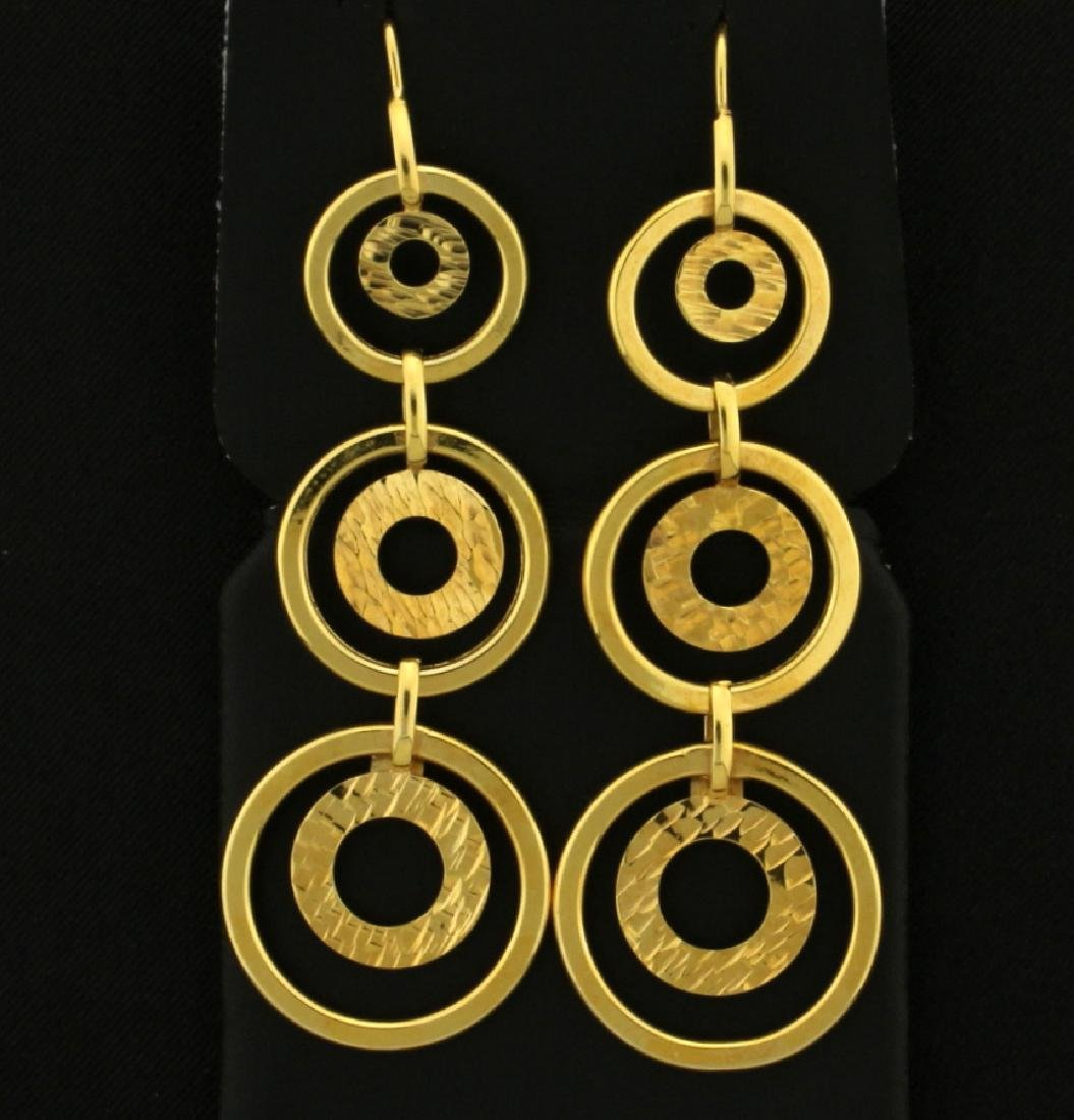 "Italian Made Dangle ""O"" Earrings"