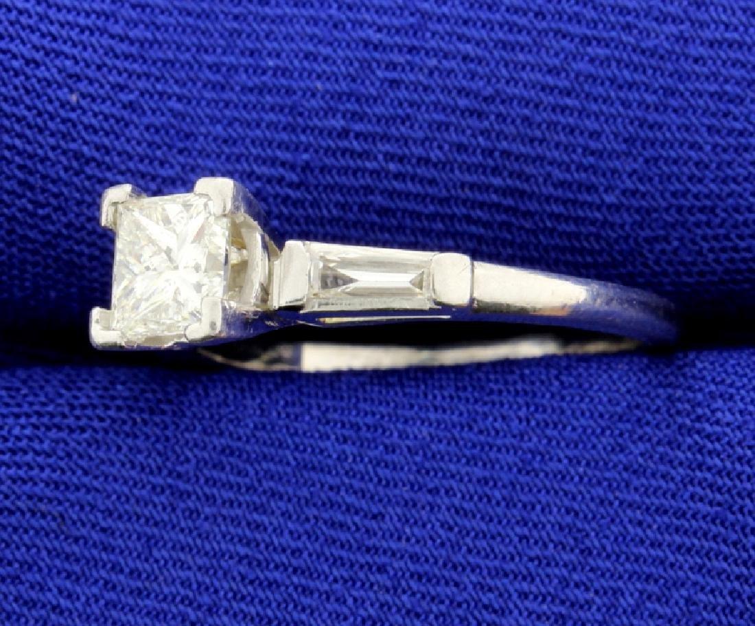 Over 1 CT TW Platinum Diamond Engagement Ring - 2