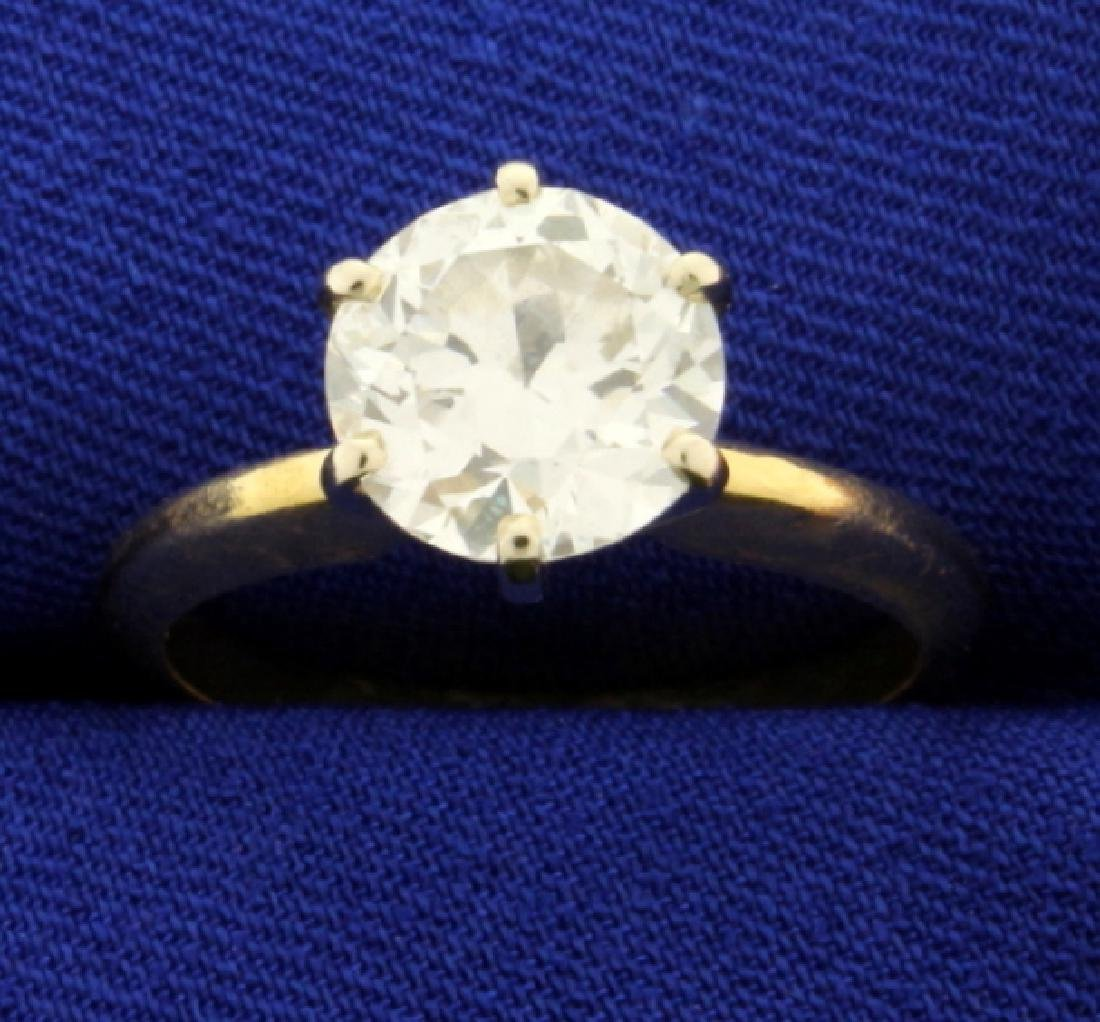 GIA Certified 2 ct Solitaire Diamond Ring