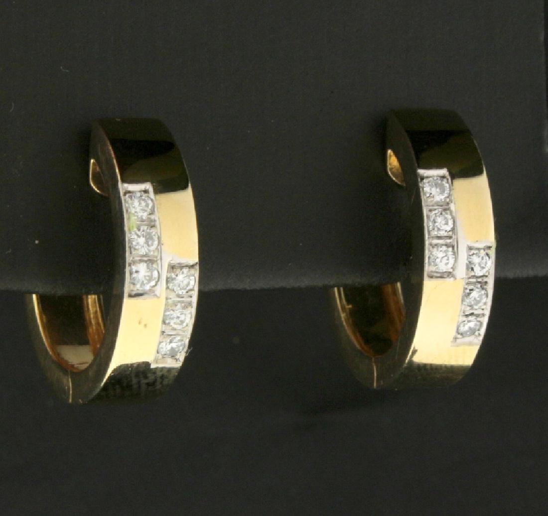 Diamond Huggy Style Earrings