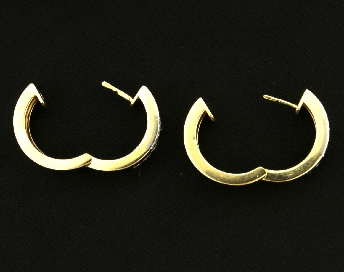 Diamond Huggy Style Earrings - 2