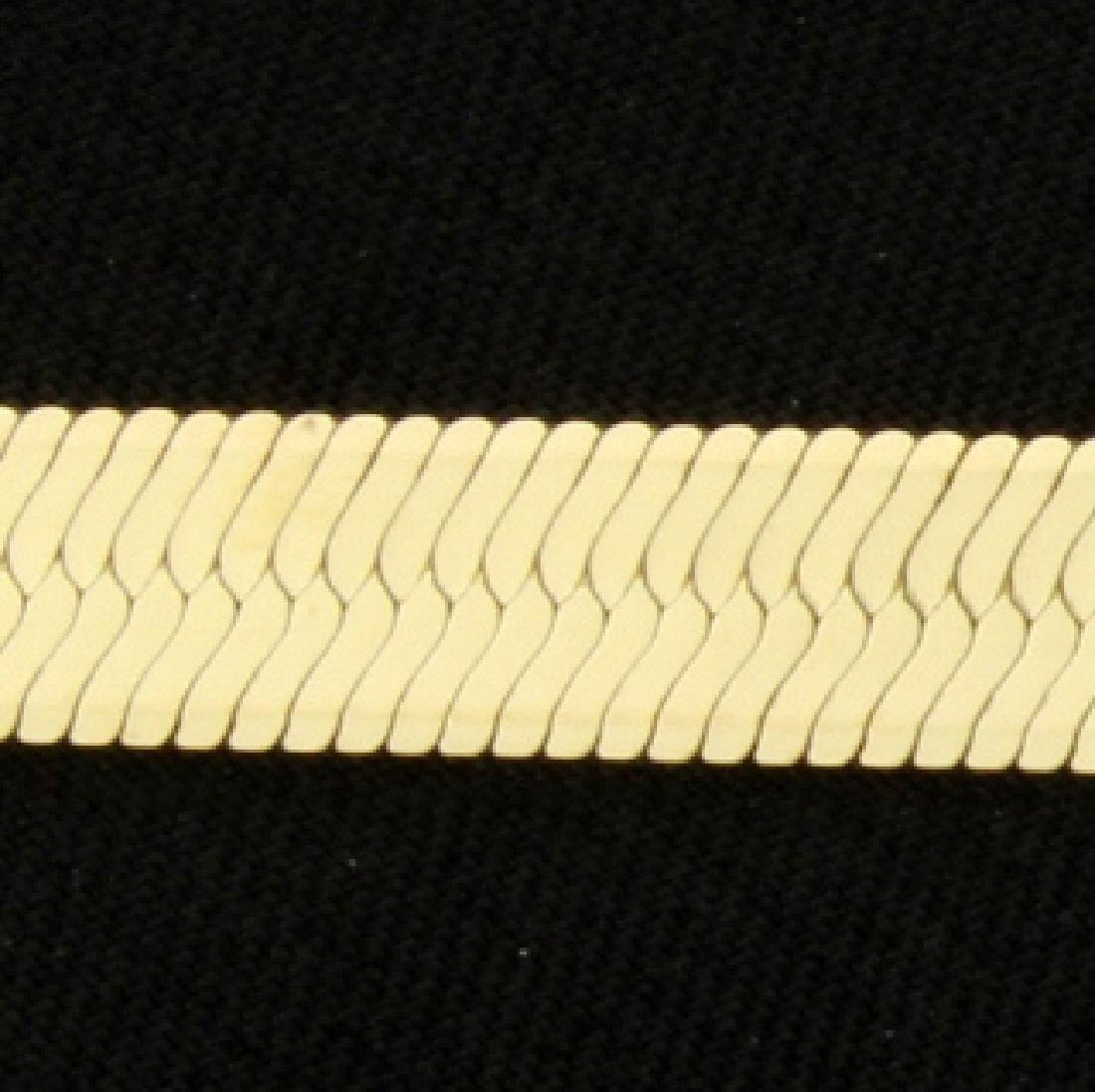 14 Inch Herring Bone Necklace - 2