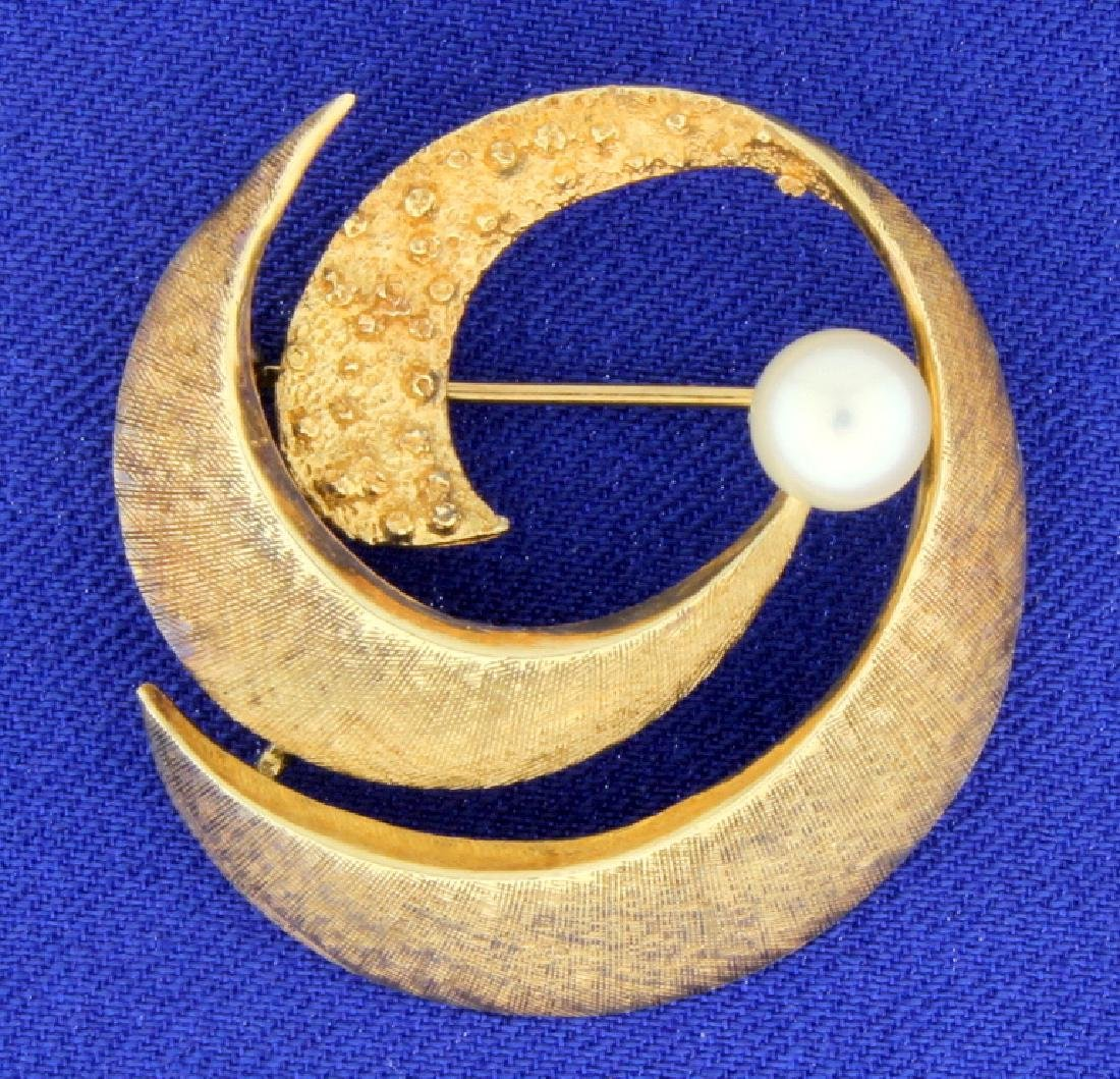 Antique Pearl Pin