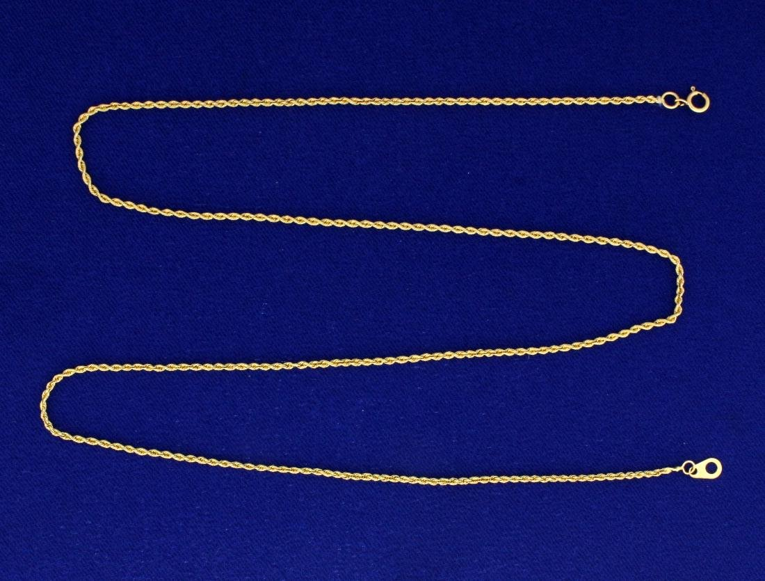 20 Inch Rope Style Neck Chain