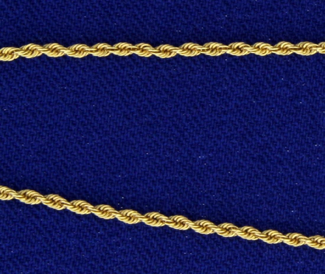 20 Inch Rope Style Neck Chain - 2