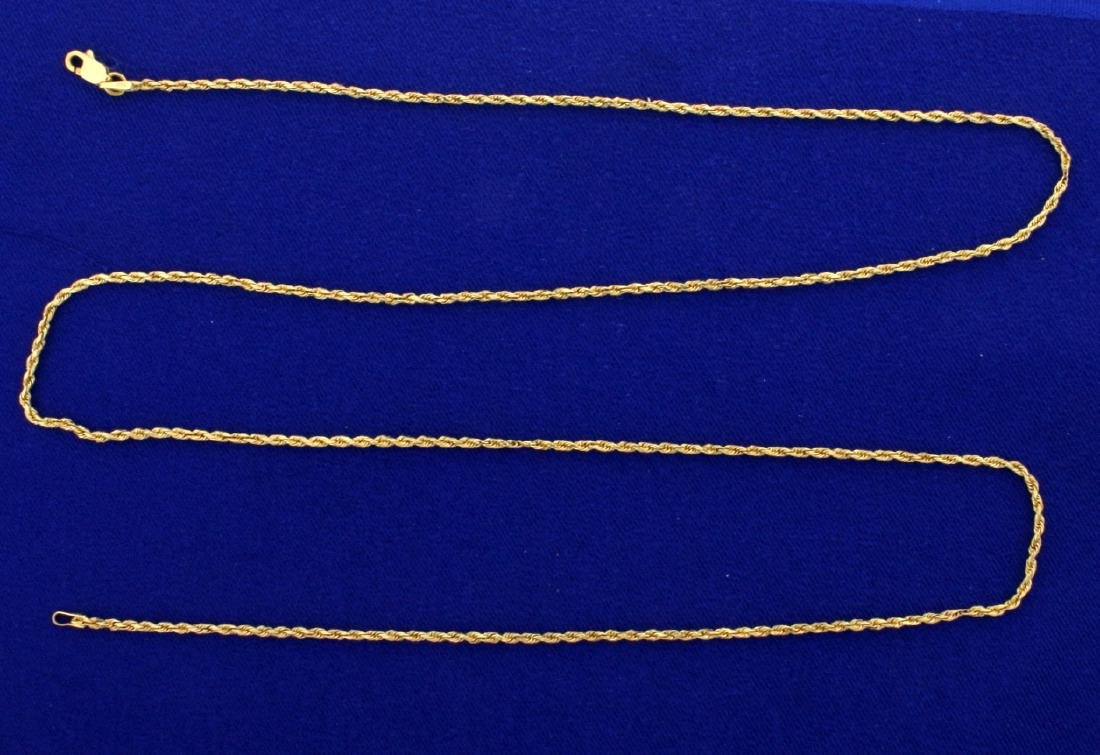 25 3/4 Inch Rope Style Neck Chain