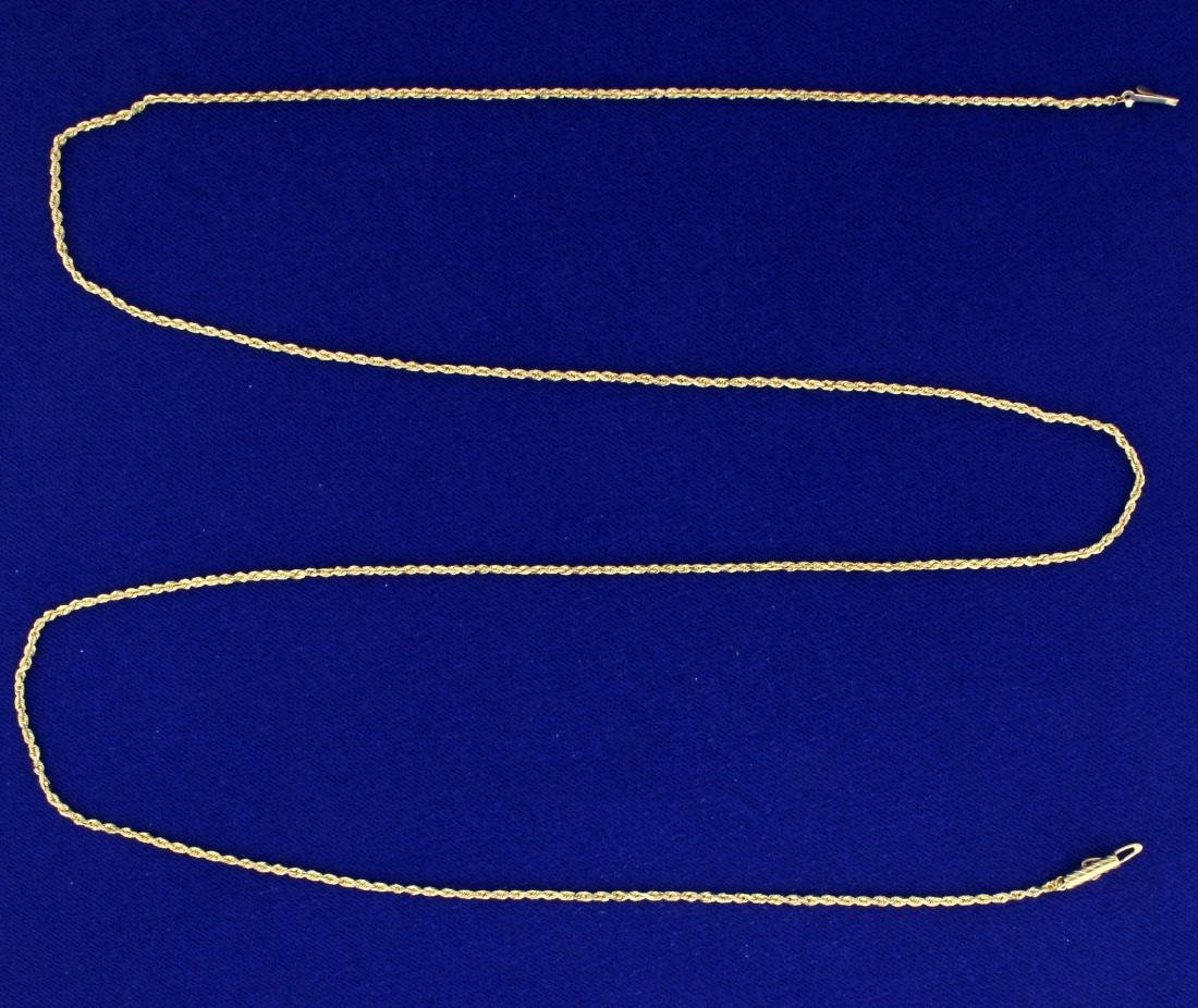 28 1/4 Inch Rope Style Neck Chain
