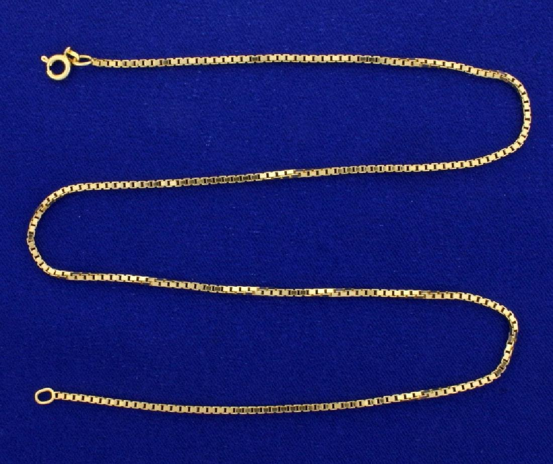 18 1/8 Inch Box Link Neck Chain