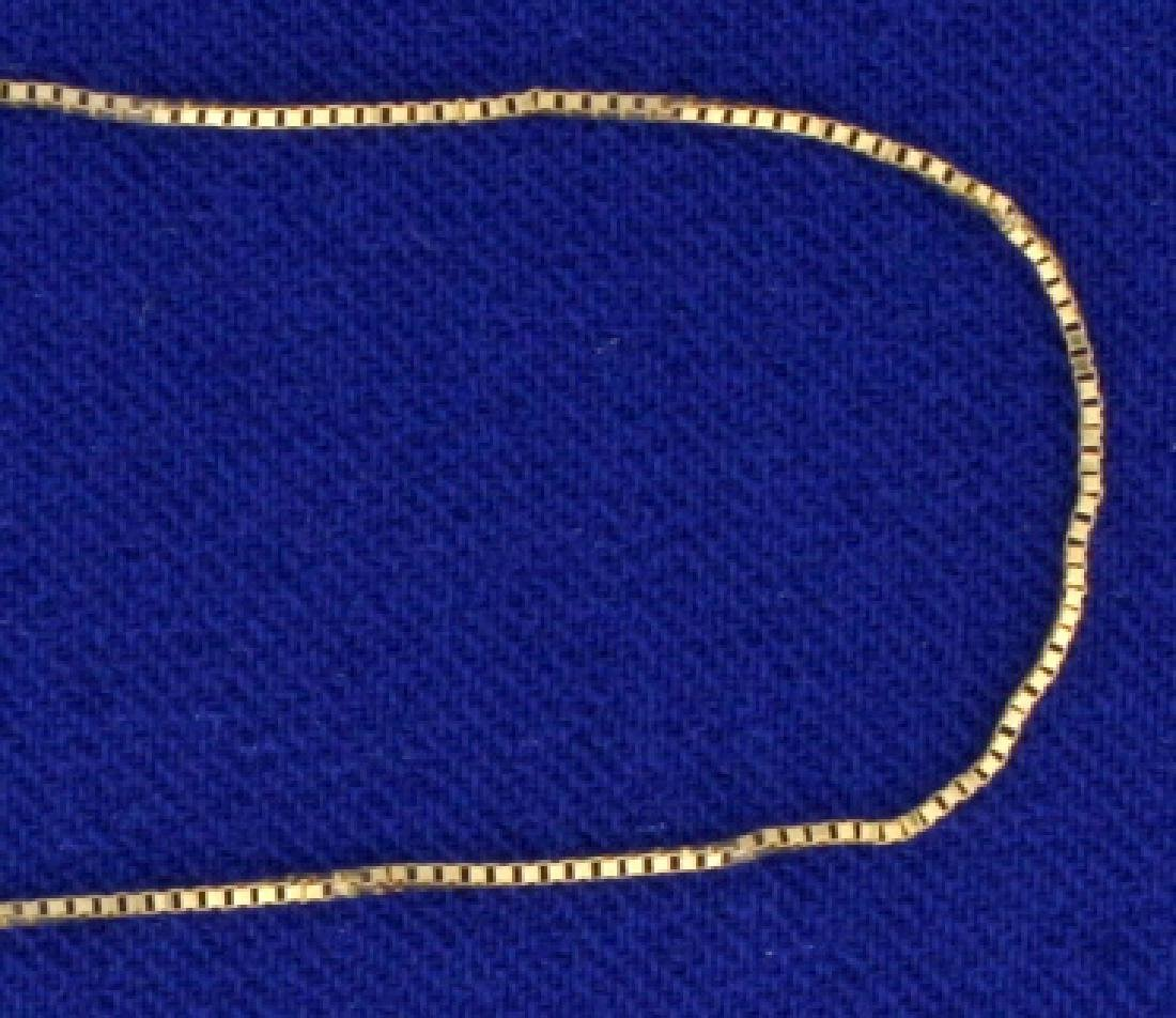 19 1/4 Inch Box Link Neck Chain  in 14k Gold - 2