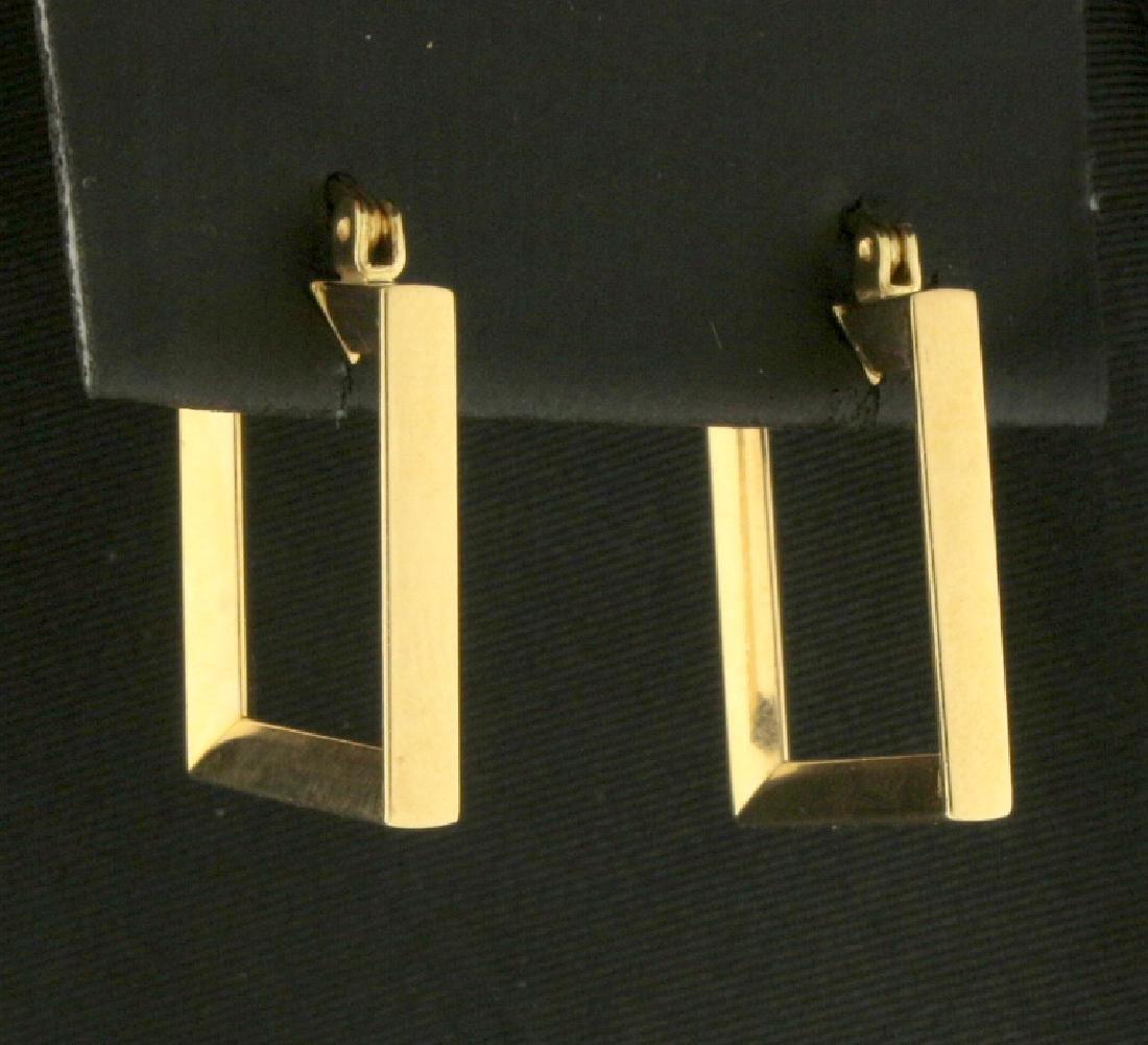 Rectangular Hoop Earrings - 2