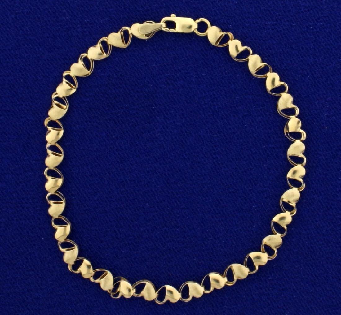 "7 1/4"" Heart Link Bracelet"