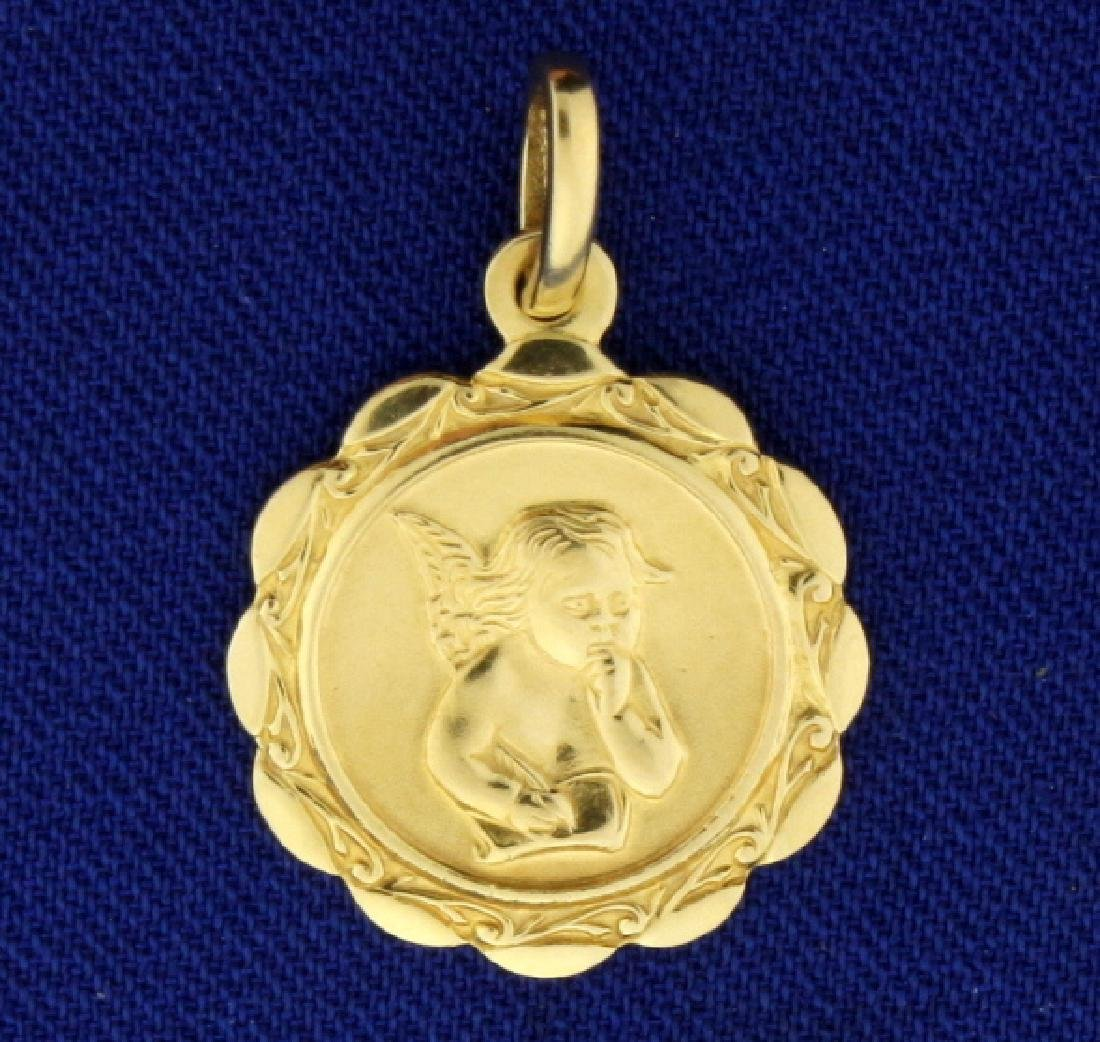 Italian Made Angel or Cherub Pendant