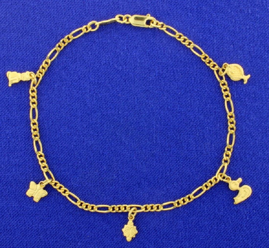 7 1/4 Inch Charm Bracelet