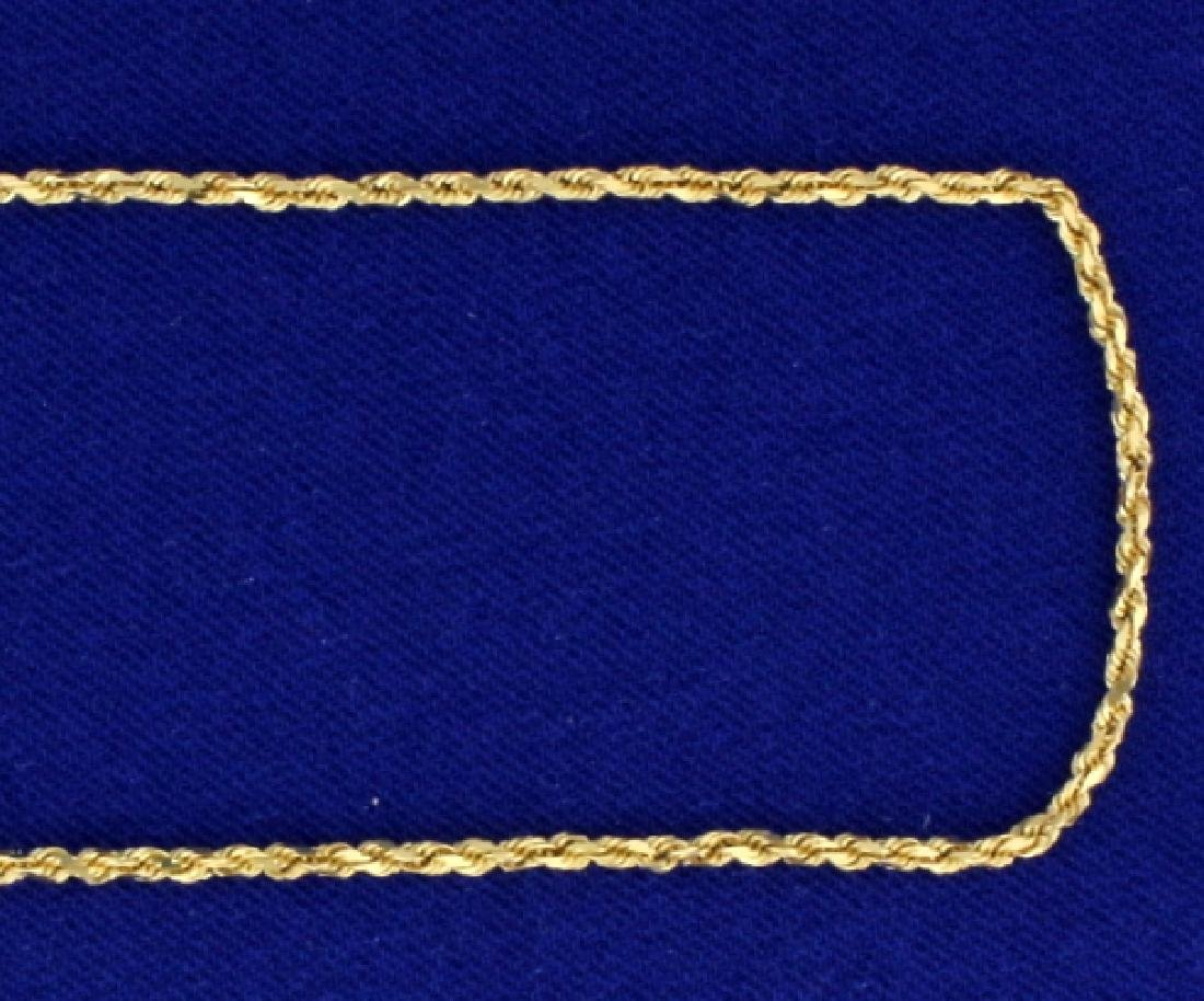 24 Inch Rope Link Neck Chain in 14k Gold - 2
