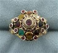 Antique 18k Multi-Gemstone Ring