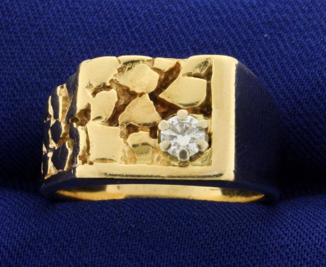 Nugget Style Diamond Ring