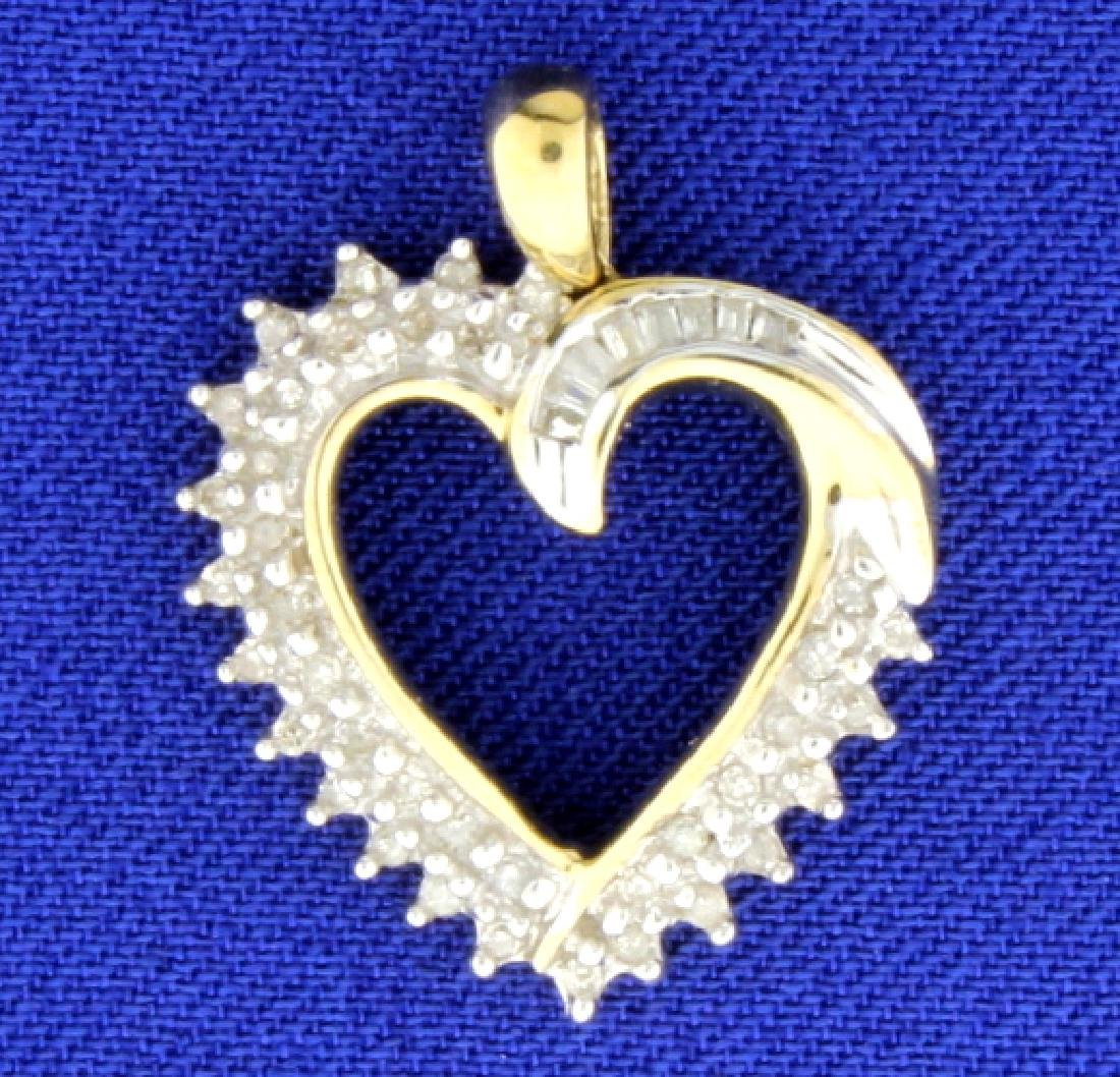 1/2ct TW Diamond Heart Pendant