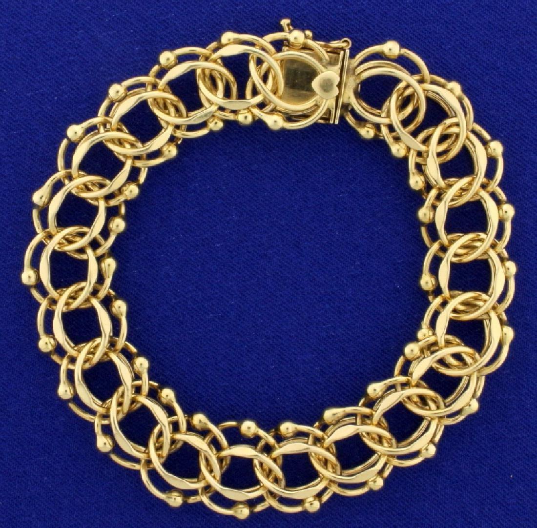 Thick 8 Inch Charm Bracelet