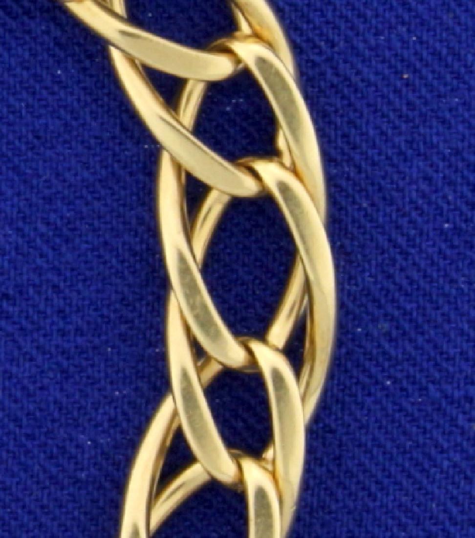 7 Inch Twisting Oval Link Bracelet in 14k Gold - 2