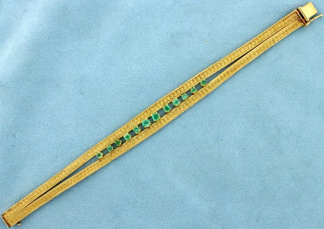 Vintage Natural Emerald Bracelet