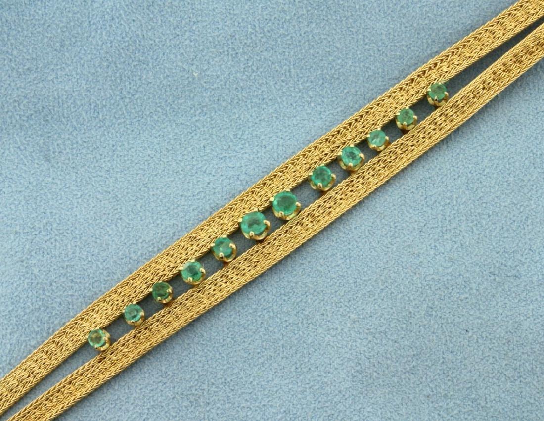 Vintage Natural Emerald Bracelet - 2