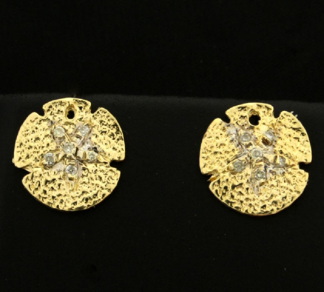 Diamond Sand Dollar Earrings