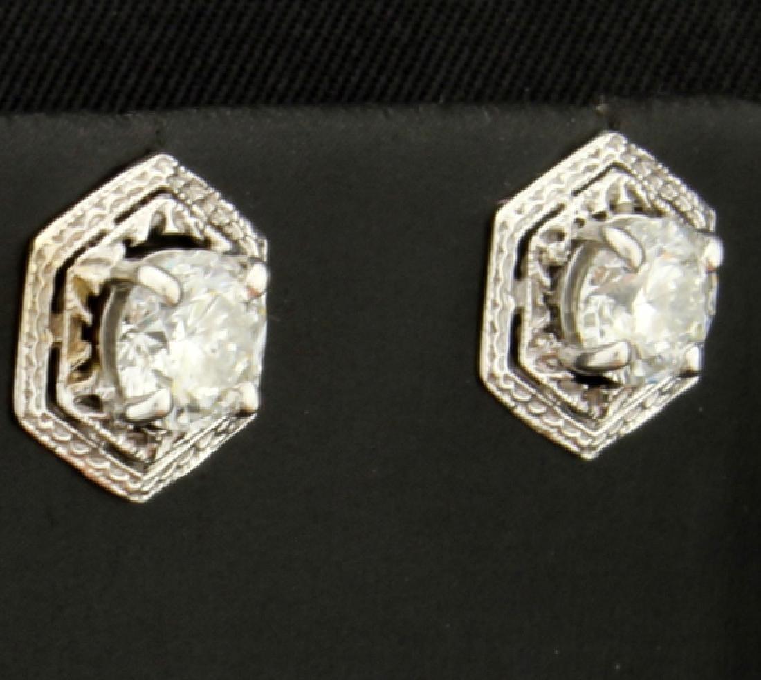 Unique 1.6ct TW Diamond Earrings - 2