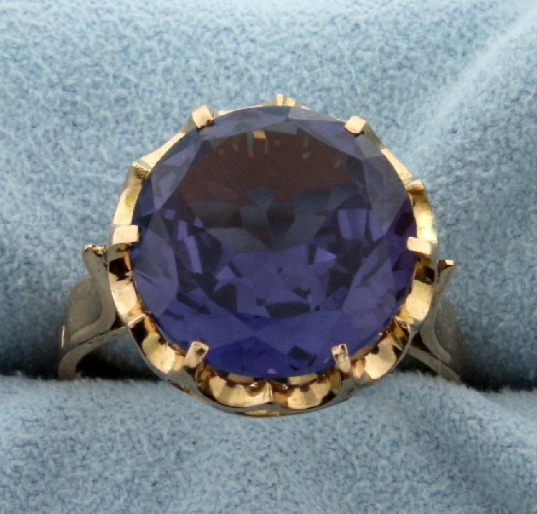 Vintage 10ct Sapphire Ring