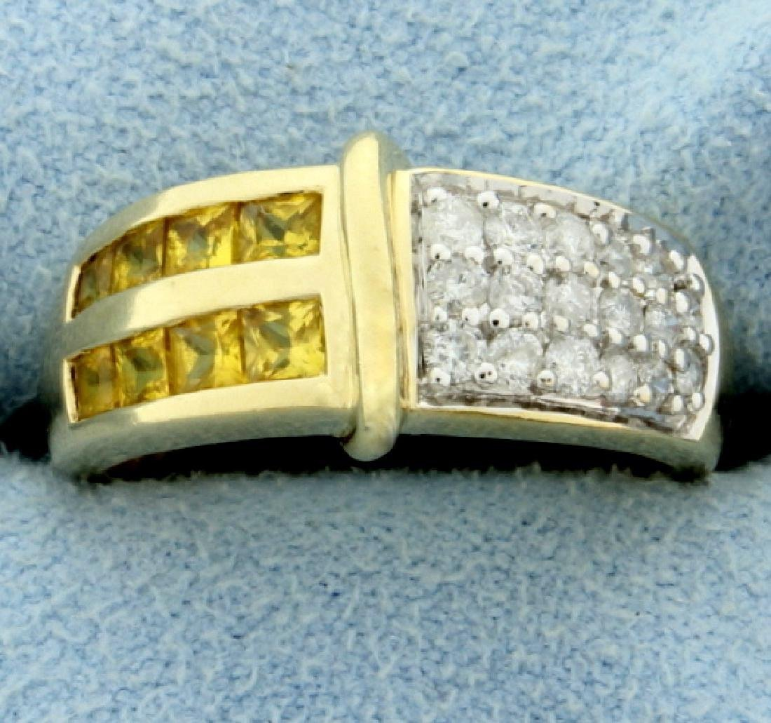1 ct TW Diamond and Citrine Ring
