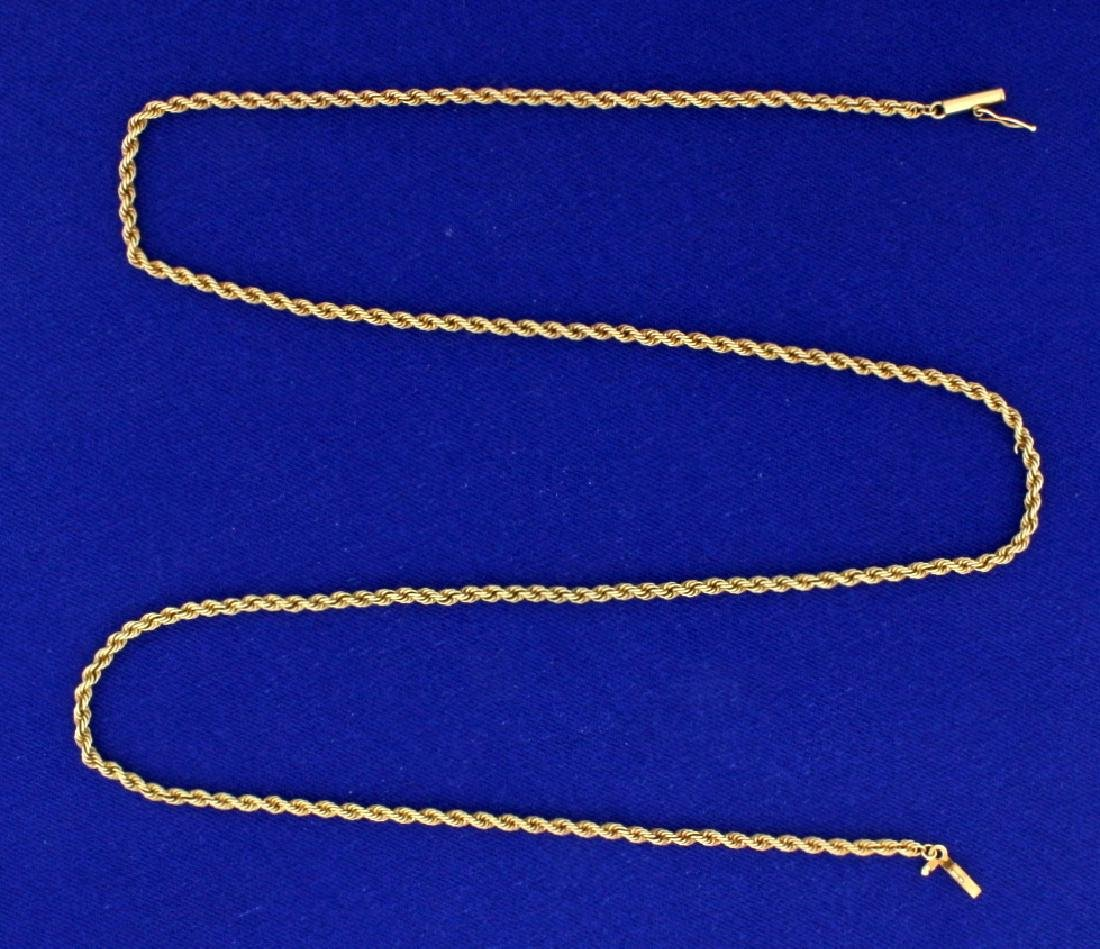20 1/2 Inch Rope Style Neck Chain