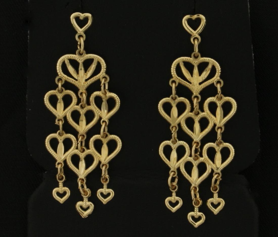 Dangle chandelier earrings heart dangle chandelier earrings arubaitofo Choice Image