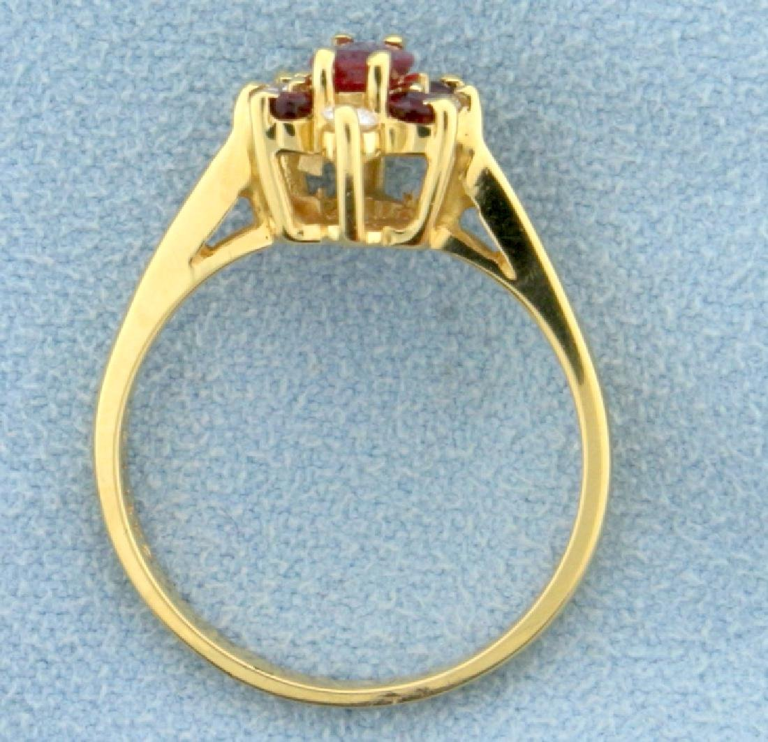 Natural Ruby and Diamond Ring - 3