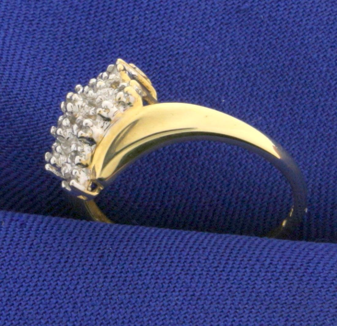 Waterfall 1/4 Ct TW Diamond Ring - 2