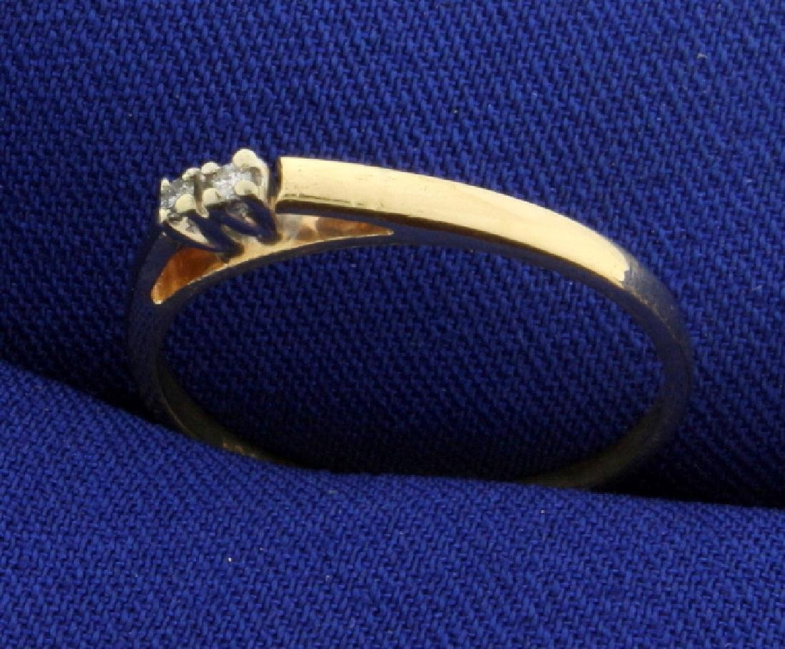 2 Diamond Cathedral Style Ring - 2