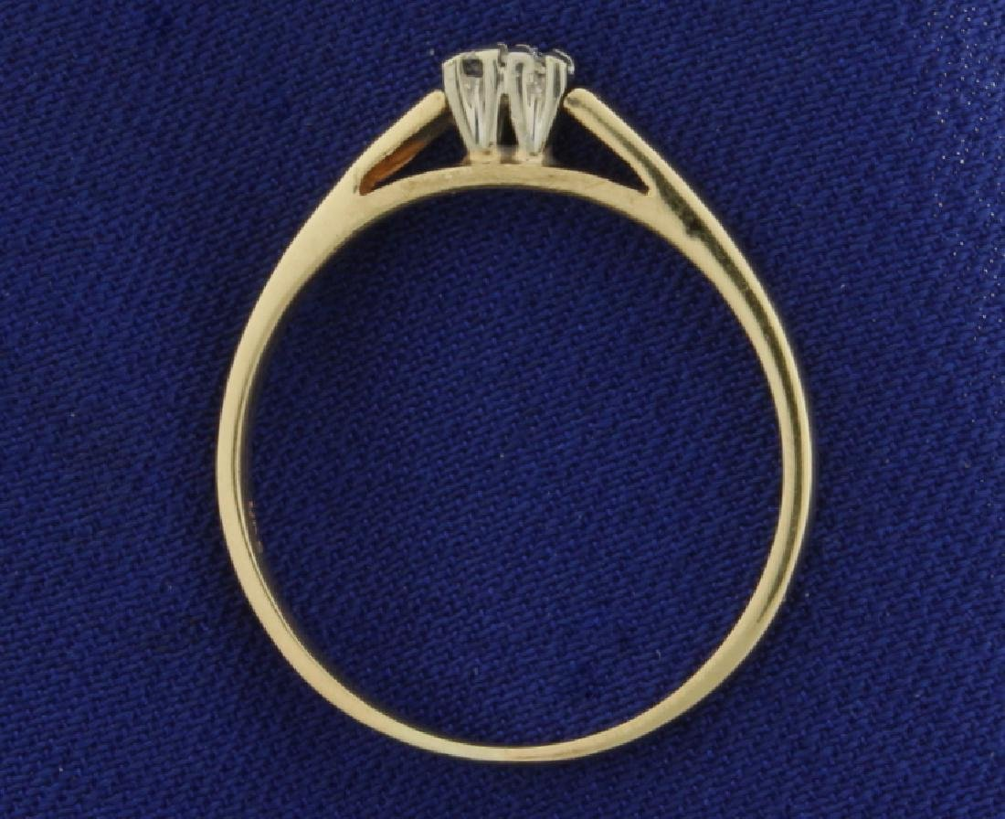 2 Diamond Cathedral Style Ring - 3