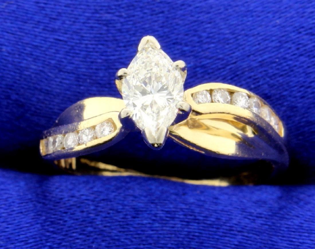 2/3 Ct TW Marquise Diamond Ring