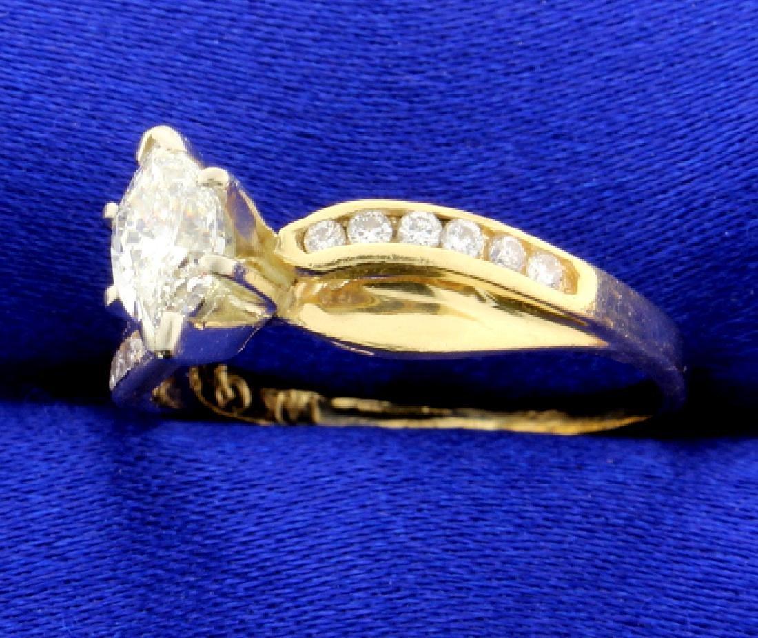 2/3 Ct TW Marquise Diamond Ring - 2