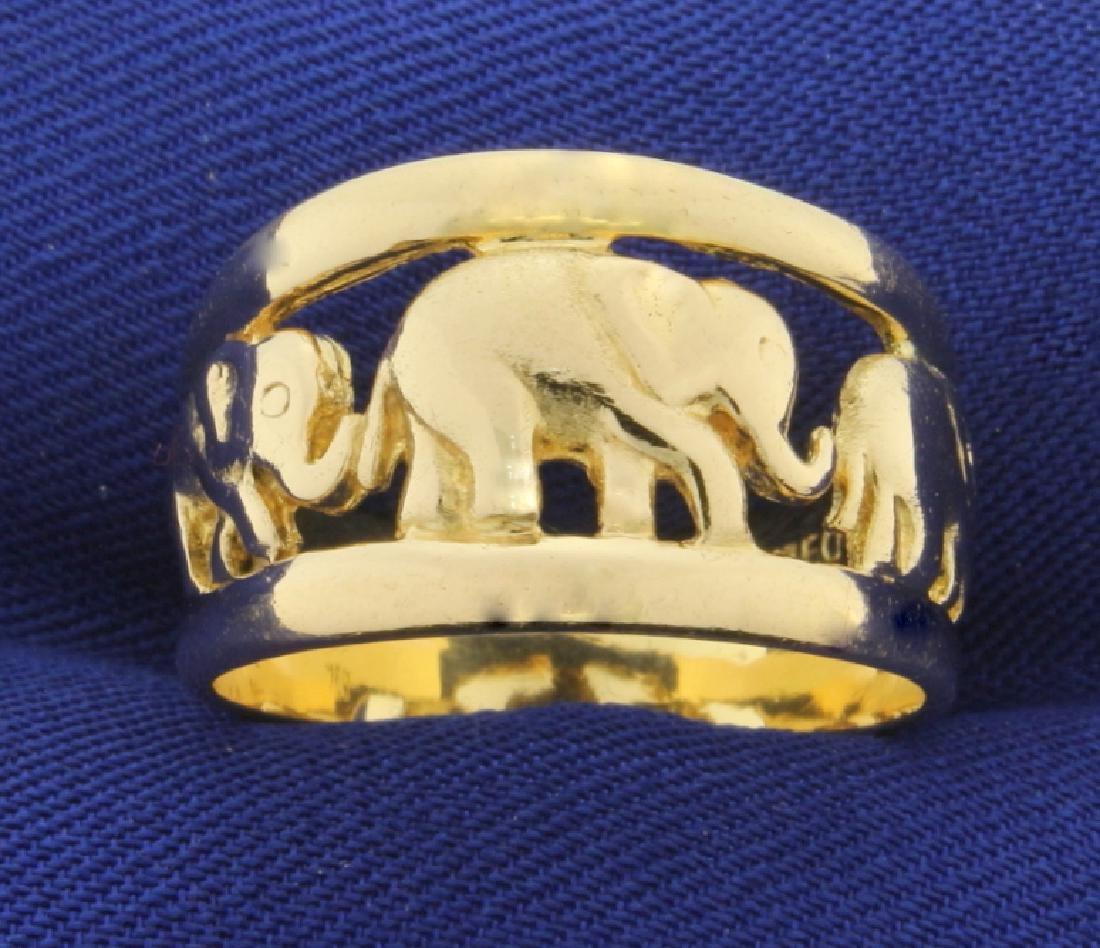Elephant Ring in 18k Gold
