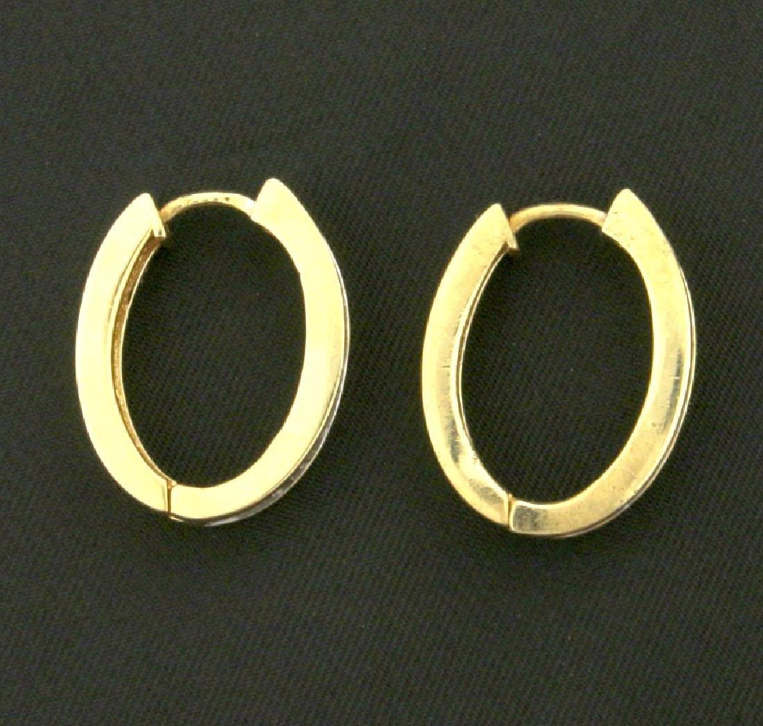 1/2ct TW Diamond Hoop Earrings - 2