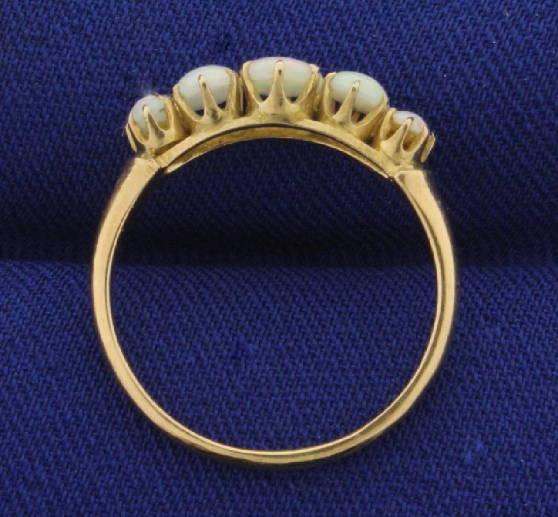 Natural Opal Ring in 14k Rose Gold - 3