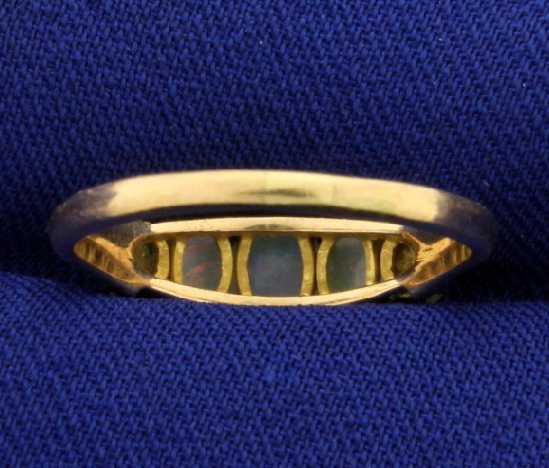 Natural Opal Ring in 14k Rose Gold - 4