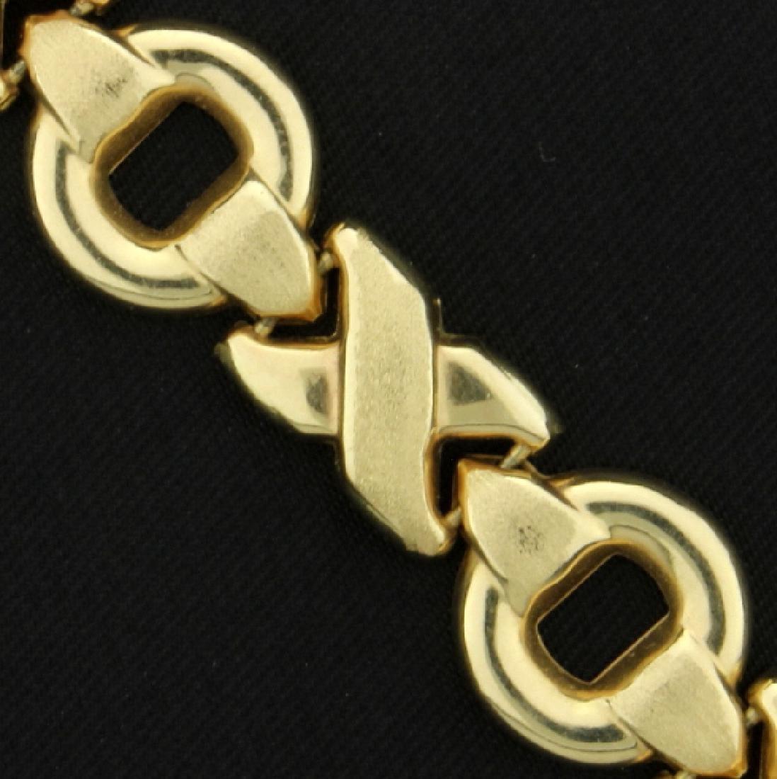 Gold X's & O's Bracelet - 2