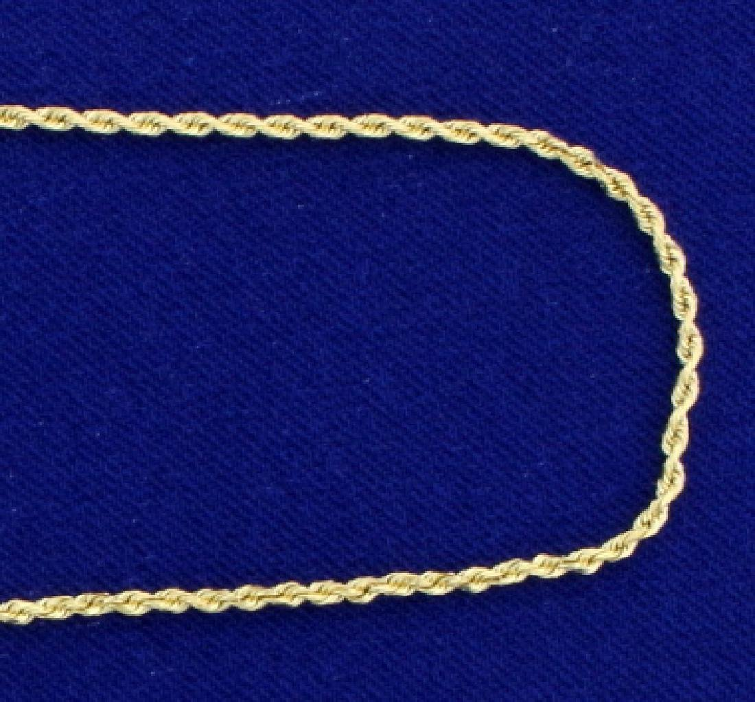 22 Inch Rope Style Neck Chain in 14k Gold - 2