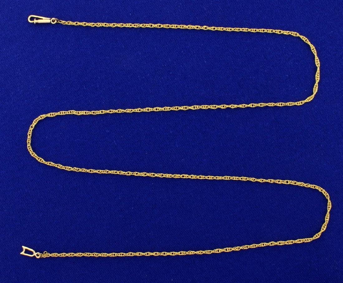 21 1/2 inch 14k Rope Style Neck Chain