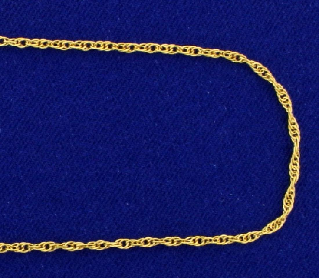 21 1/2 inch 14k Rope Style Neck Chain - 2